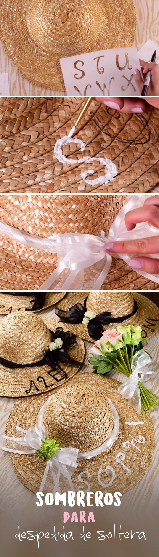 Si vas a hacer tu despedida de soltera en un lugar como la playa o muy soleado, te dejamos este increíble tip para hacer unos sombreros para ti y todas tus damas de honor. Son súper fáciles y quedan padrísimos. Te encantarán.