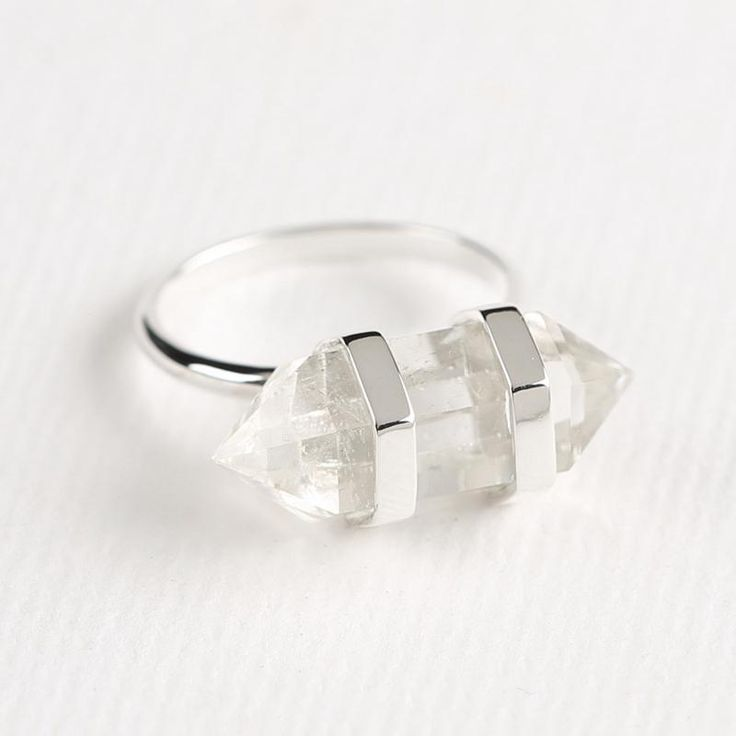 Double Point Crystal Ring - Midsummer Star