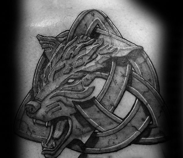 50 Keltische Wolf Tattoo Designs Fur Manner Knotwork Ink Ideen Mann Stil Tattoo Celtic Wolf Tattoo Tattoo Designs Men Wolf Tattoo Design