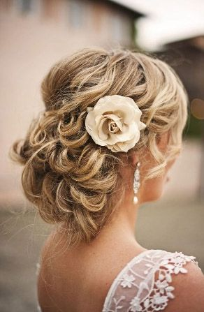 Beautiful updo for a bride