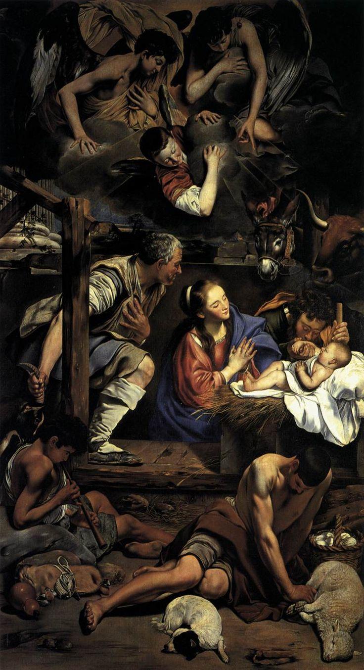 Fray Juan Bautista Maino, Adoration of the Shepherds, 1612