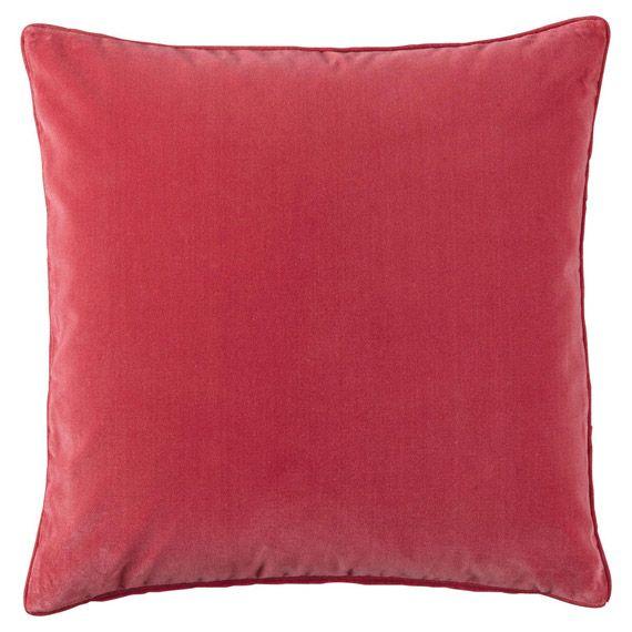 Plain Velvet Cushion Cover, Jewel Colours - Hot Pink