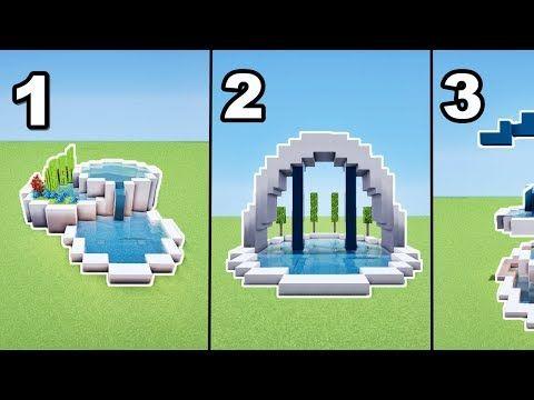 TUTO 3 FONTAINES MODERNES MINECRAFT !! - YouTube | MC | Minecraft ...