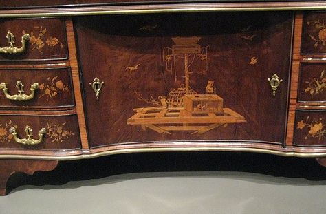 Detail marquetry David Roentgen 1743 - 1807 Germany