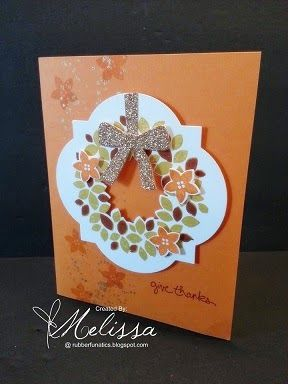 Stampin' Up! Wondrous Wreath by Melissa Davies @ rubberfunatics