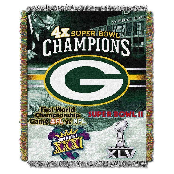"NFL Green Bay Packers Northwest Commemorative Series 48""x60"" Throw Blanket"