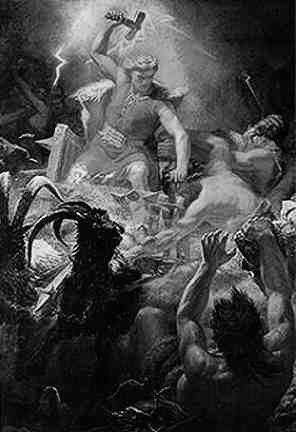 Norrøn mytologi - bilder - Tor