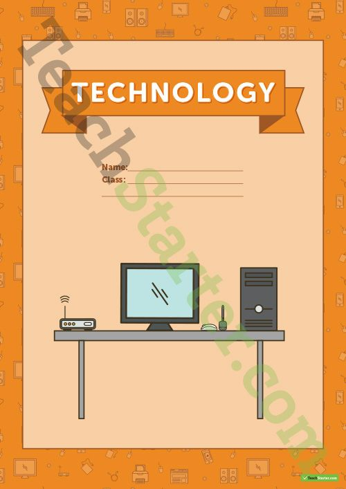 Teaching Resource: Hardware themed title page and vocabulary template to use when learning about technology content vocabulary.