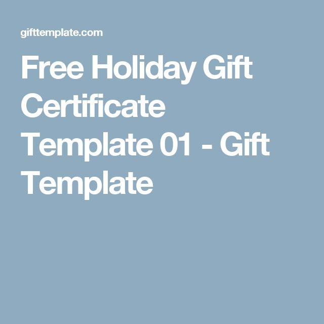25 beste idee n over Free gift certificate template op Pinterest – Free Holiday Gift Certificate Templates
