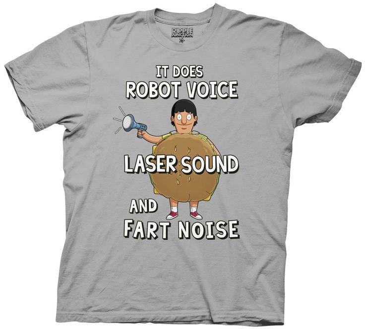 Bob S Burgers Robot Laser Noises Shirt Large Heathered Grey