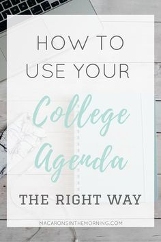 how to use a planner for college