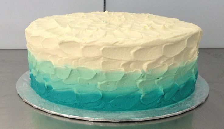 Ombre Buttercream Frosted Cake decorated by Coast Cakes Ltd