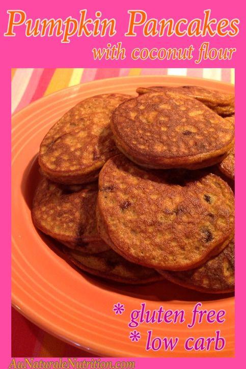 Pumpkin Pancakes, Au Naturale!  (Paleo, low-carb, gluten free)