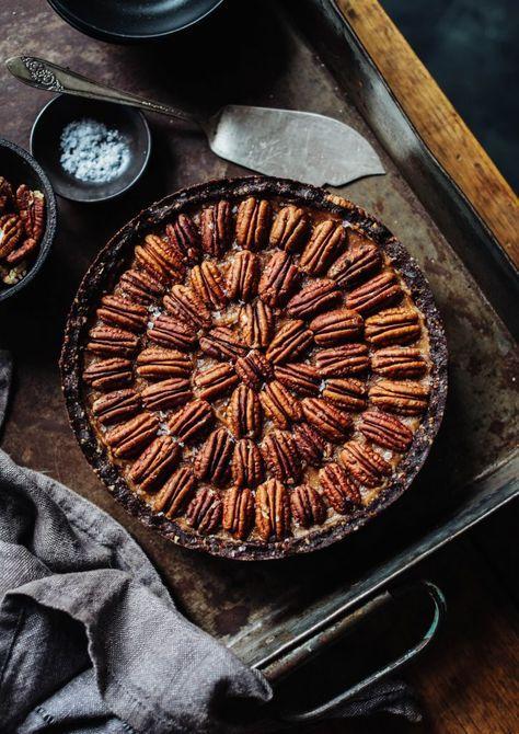 Salted Caramel Pecan Pie (Vegan and Gluten Free