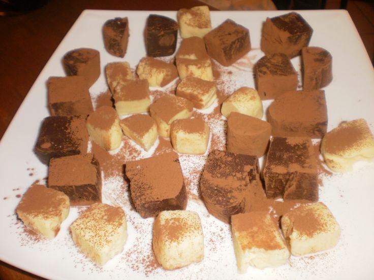 Dark Chocolate-Mint Fudge White Chocolate-Orange Fudge