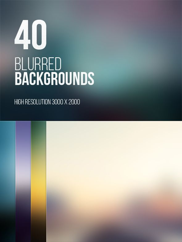 40 Blurred High Resolution Backgrounds on the Pantone Canvas Gallery