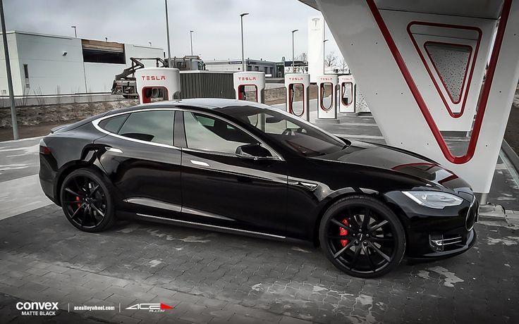 "20"" wheel Matte #Black Convex D704 Tesla Model S avail.#Black/#Silver/Titanium/Hyper Silver Machined Face"