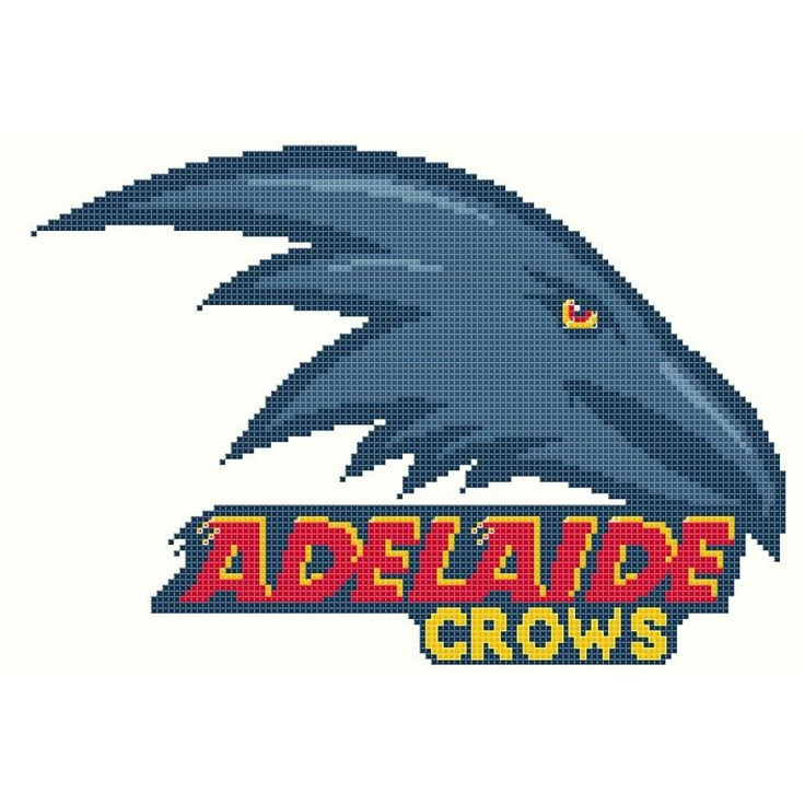 Adelaide Crows AFL Logo cross stitch chart
