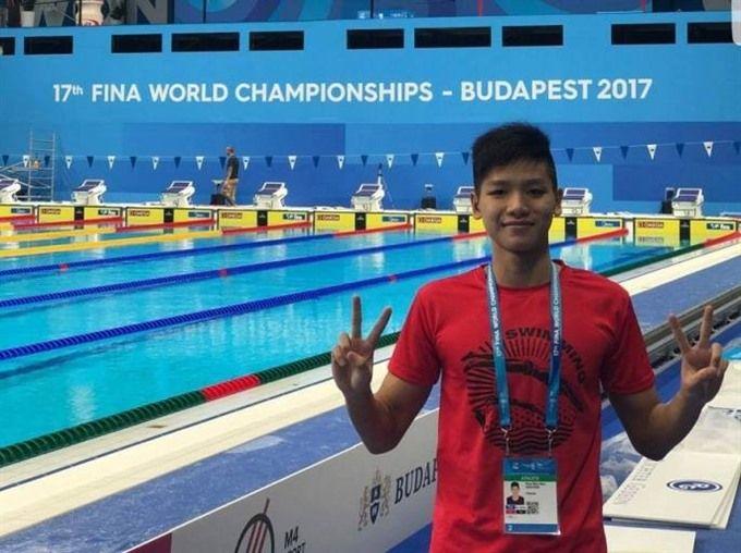 Kim Sơn lập kỷ lục mới ở thể loại bơi tự do 1500m - Trung tâm thể thao tuổi trẻ