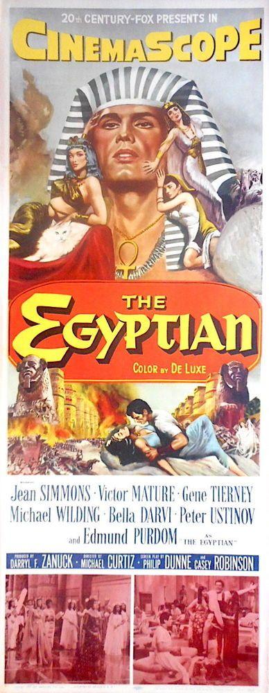 THE EGYPTIAN MOVIE POSTER 1954 Edmond Purdum Gene Tierney Bella Darvi Insert