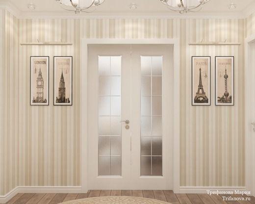 Женская классика. Трехкомнатная квартира в Москве. Коридор; Холл