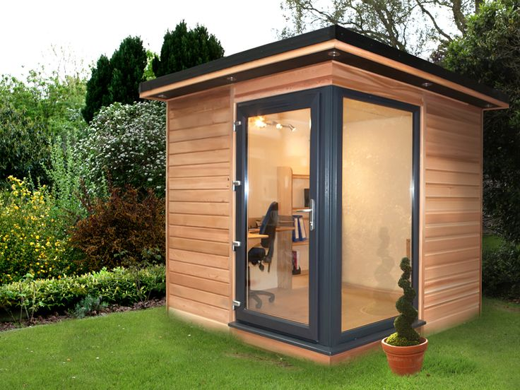 7 best small garden rooms images on pinterest little for Garden office and shed