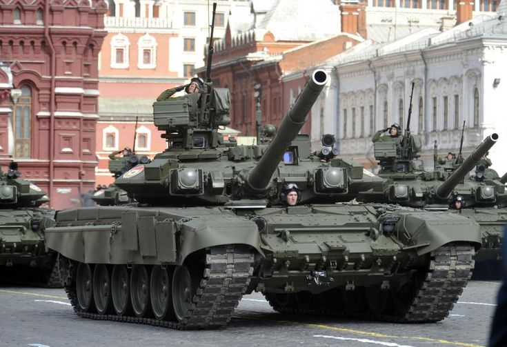 soviet military | Russian military tanks move along Red Square during a military parade ...
