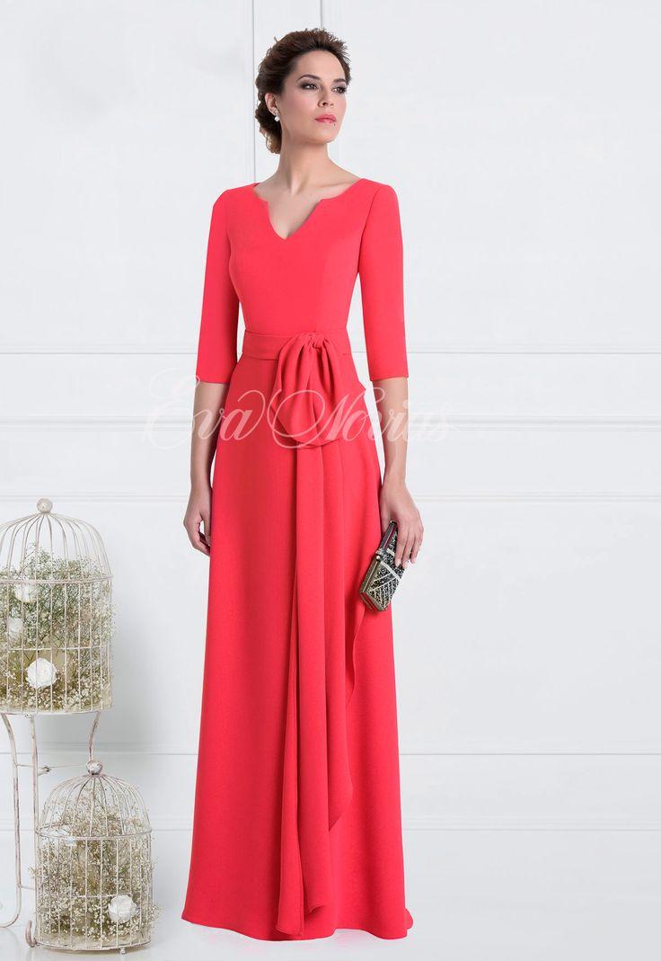 Tienda de vestidos de fiesta y madrina de Madison Diseño colección 2017 modelo 1772 en Eva Novias Madrid C/ Mayor, 5 T. 91 5223573. Zapatos, tocados...