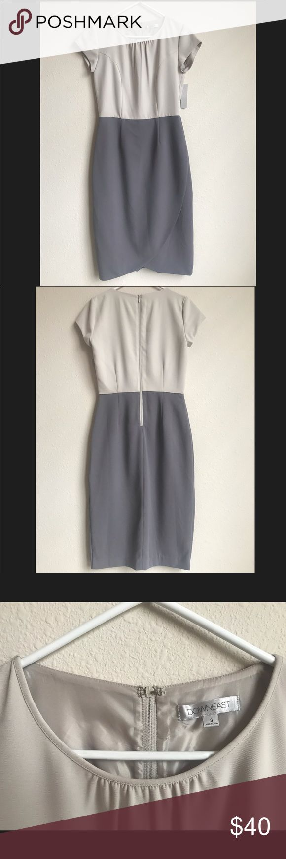 Downeast formal dress Beautiful grey and silver formal knee length dress.  The fabric of the dress is very nice and it can be worn in any formal occasion. Size S Brand new never been worn!! open to offers! 😊 downeast Dresses