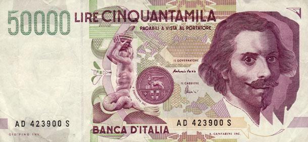 <p>Le 50mila lire con la faccia di Bernini: se appartengono alla serie storica, possono valere una fortuna. Quanto? Tra i trecento e i mille euro. Pertanto, il loro valore numismatico è molto più alto di quello nominale, proprio per la loro rarità. </p>