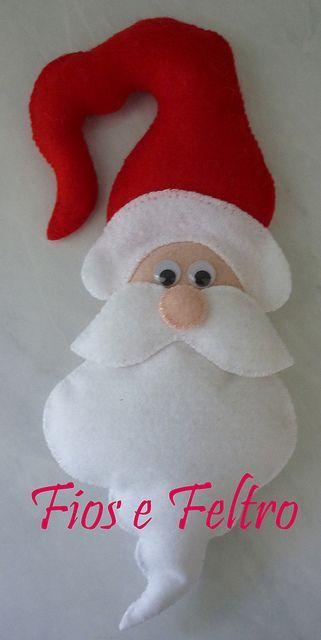 Papai Noel enfeite de maçaneta   Flickr – Compartilhamento de fotos!