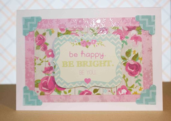 Confetti Be Happy Be Bright Be You Greeting by TartanElephantAus, $6.00
