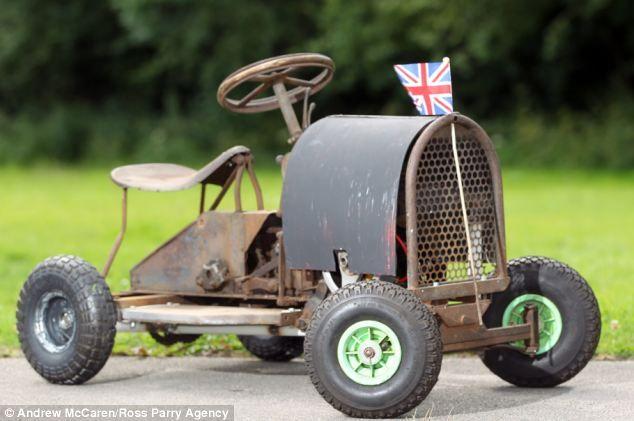 scrap metal toy car built in 1937!