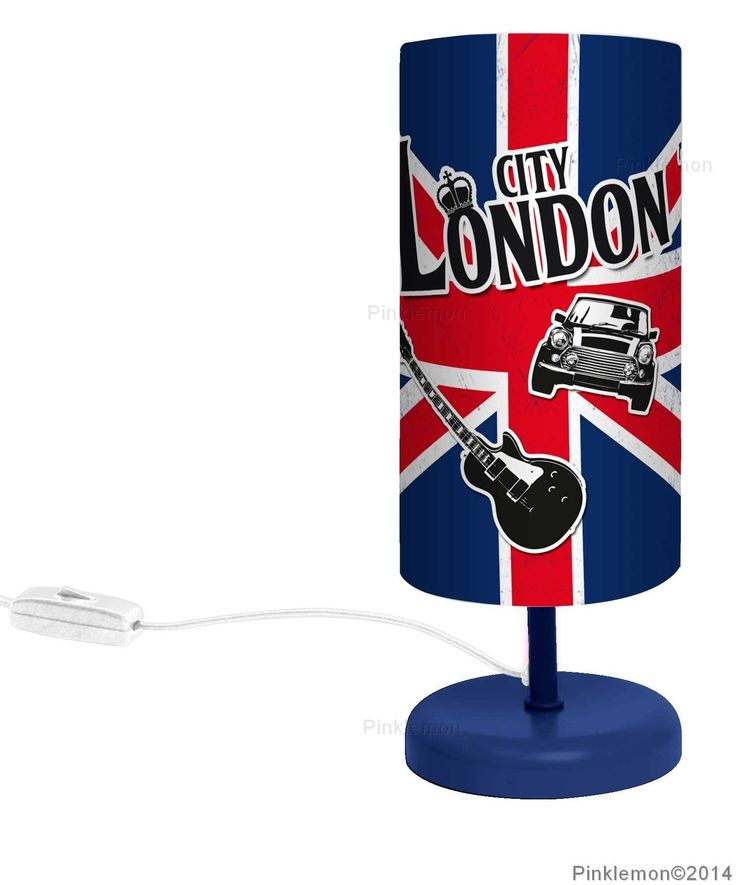 lampe de chevet london un luminaire d co aux couleurs de l 39 angleterre luminaires et. Black Bedroom Furniture Sets. Home Design Ideas