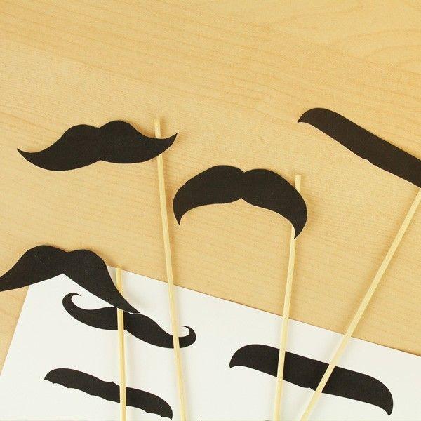 FREE downloadable printable mustache's photo booth mustache picks via Kara's Party Ideas Shop KarasPartyIdeas.com