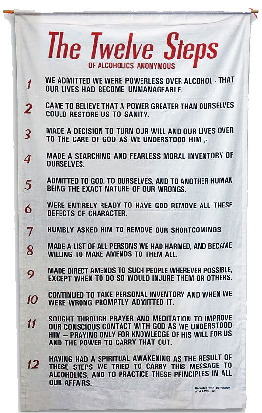 <3 The Twelve Steps of Alcoholics Anonymous <3 ***These steps can be followed by anyone for anything that is a compulsion or an obsession...NOT just for alcohol and drug addiction.***