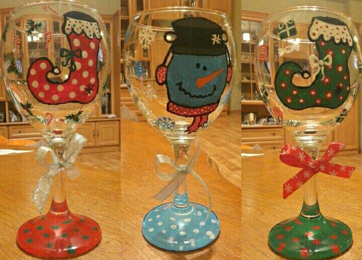 Christmas gift / wine glasses 🎁🍷