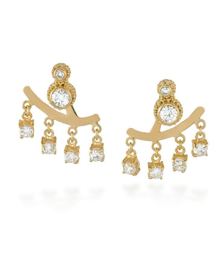 Tulola Galaxy Earrings Gold Dip http://www.shoptulola.com/collections/galaxy-earrings.html #SophieParis