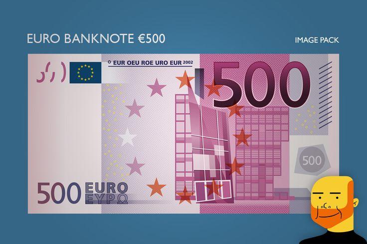 Euro Banknote €500 (Image) by Paulo Buchinho on Creative Market