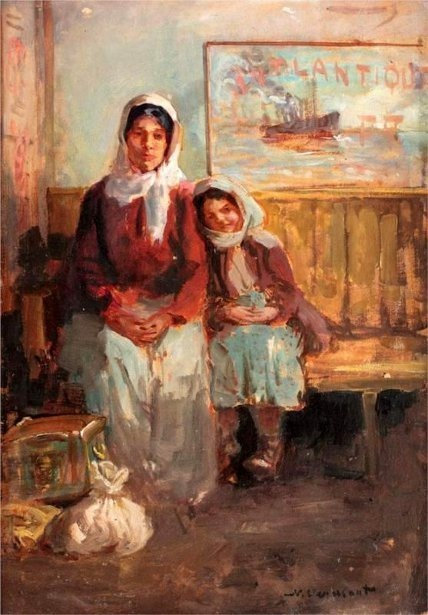The Emigrants (Last Ship), Nicolae Vermont (1866 – 1932, Romanian) I AM A CHILD, children in art history, blog