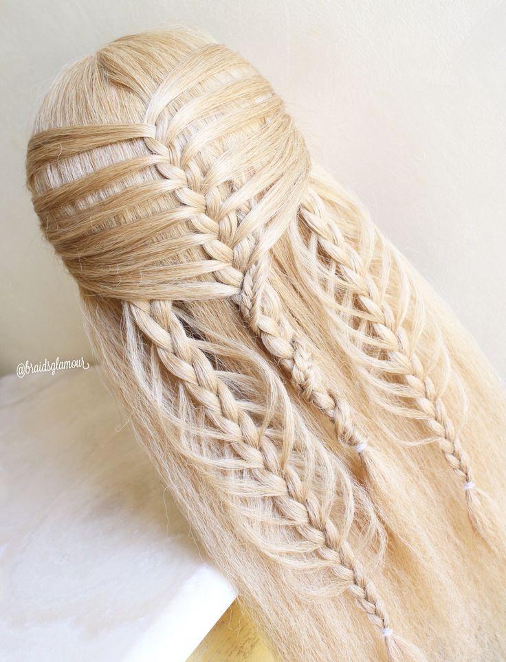 Mermaid braid/loop braids combo