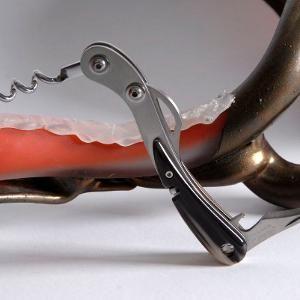 """Scarperia Sommelier Tirabuscio 2013  GESCHICHTE  Dieses Sammlermesser ist die Nachbildung von """"Lo Scarperia"""". Es wurde von James Cecchi entworfen und war ursprünglich in einer limitierten Auflage von nur 10 Stück hergestellt um den 700. Jahrestag der Gründung von Scarperia und zehn Jahre Saladini zu feiern.  Die Scarperia ist das auffälligste Messer Saladinis weil mit diesem Design die gesamte Geschichte ihres alten Handwerks ausdrückt.  Der Griff wurde aus Stahl gefertigt. Die Einlage ist…"""