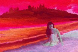 Romantic Mermaid  Sunset by simon-knott-fine-artist at zippi.co.uk