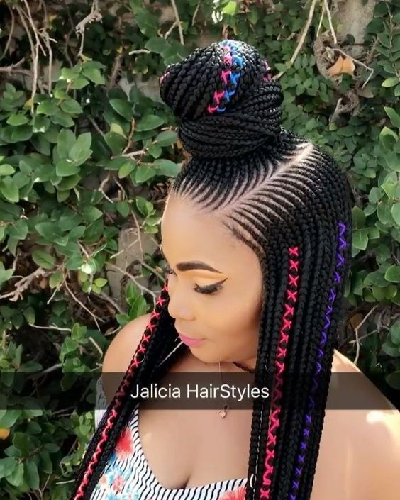 Black Girl Fashion 2019: 25 Catchy Cornrow Braids Hairstyles Ideas To Rock In 2019