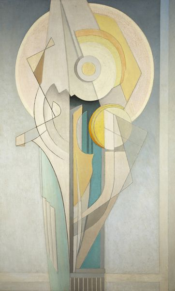 """Abstract (Vertical),"" Lawren Harris, ca. 1939, oil on canvas, 48 1/4 x 30 3/8"", Art Gallery of Hamilton."