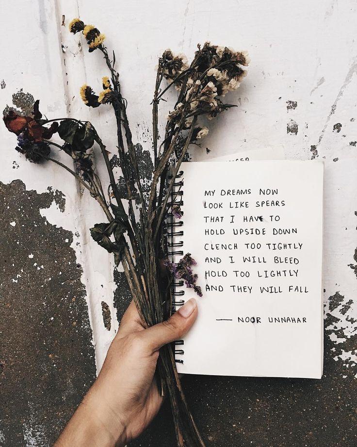 dreams // poetry by noor unnahar // journaling journal