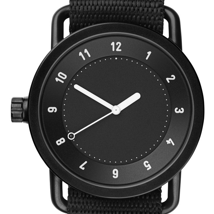No.1 (black) watch by TID. Available at Dezeen Watch Store: www.dezeenwatchstore.com
