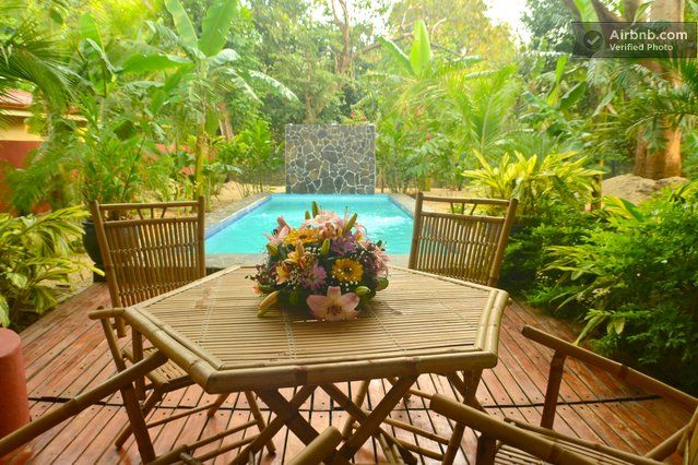 Poolside drinks or Breakfasts in the morning ,surround yourself in your tropical paradise 133$ Tropical designer modern villa, potero