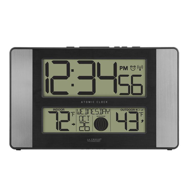 La Crosse Technology 513-1417AL Aluminum (Silver) Atomic Clock with Temperature (Metal)