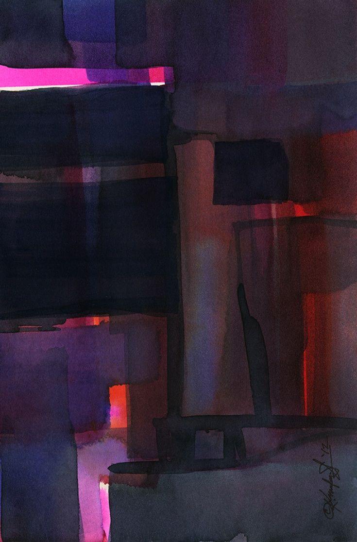 Watercolor Abstraction No. 216 by Kathy Morton Stanion